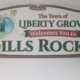 Custom painted sandblasted HDU signs for The Town of Liberty Grove