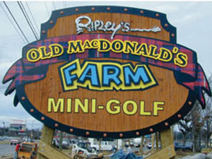 Ripley's Sandblasted Mini Golf Sign