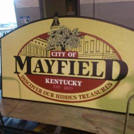 City of Mayfield Sandblasted HDU signs